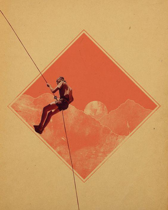 Collage: Design Inspiration, Rock Climbing Art, Brent Hildy 2 Jpg 620, Photos Brenthildy, Rock Climbing Graphic Design, Climbing Posters, Climbing Graphics