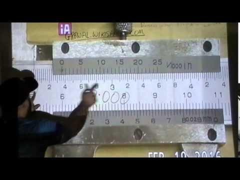 How To Read An Imperial Inch Vernier Caliper Youtube Vernier Caliper Vernier Calipers