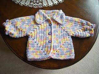 Knit Pattern Hexagon Sweater : Hexagon Sweater Revisited free crochet pattern Crochet ...