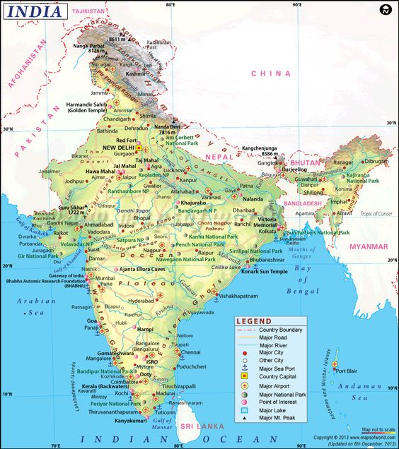 india map Free Large Images Places to Visit – South India Map With Tourist Places
