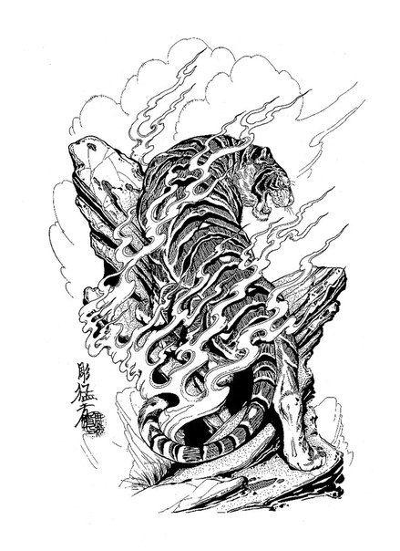 Dragons snakes birds skulls jack mosher tattoo for Huma bird tattoo
