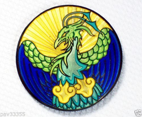 Fire-Ice-Phoenix-Blue-Black-Nickel-Finish-New-Geocoin-Unactivated