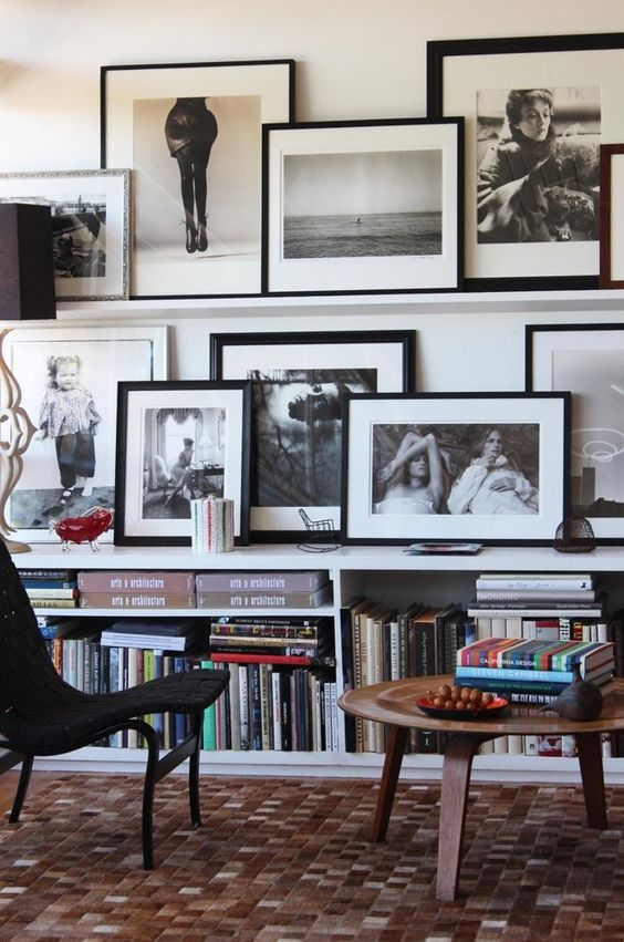 Layered Gallery Wall, photography, art, design