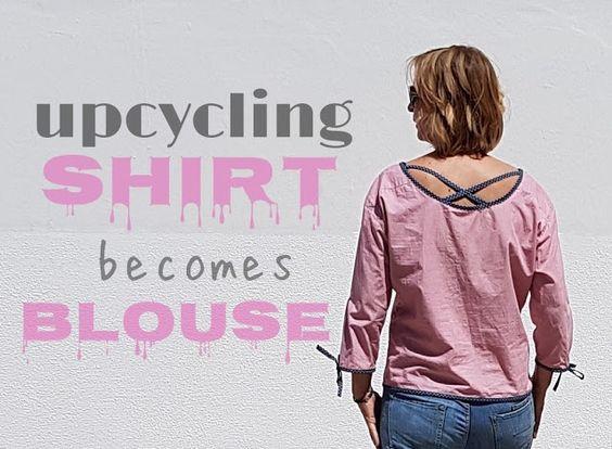 Herrenhemd in neuem Gewand #upcycling #nähen #shirt