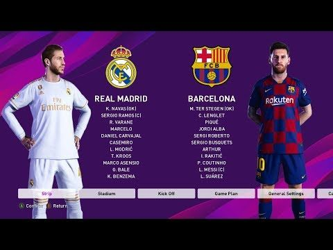 Pes 2020 Real Madrid Vs Barcelona Gameplay Hd El Clasico Youtube Real Madrid Barcelona Vs Real Madrid Real Madrid And Barcelona