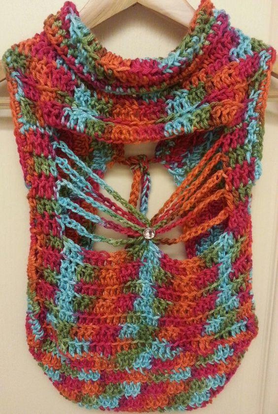 Crochet Patterns For Childrens Vests : Crochet Pattern Child Butterfly Back Vest by ...