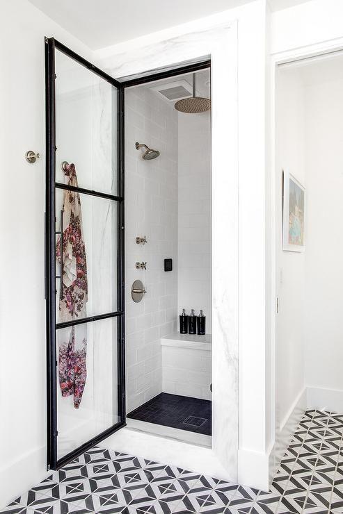 white floor tiles bathroom