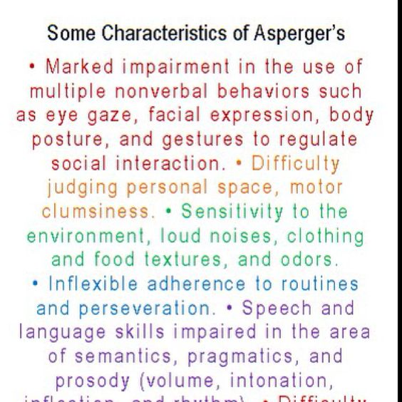 Adult symptoms of aspergers syndrome