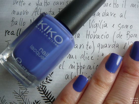 Esmalte roxo Kiko Make Up Milano #nailpolish #violet
