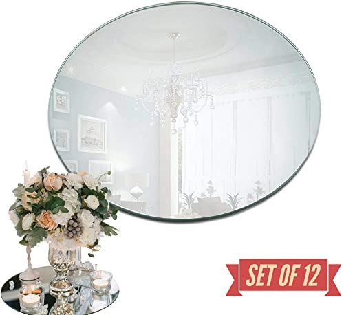 New 10 Inch Round Mirror Candle Plate Set 12 Rounded Edge 1 5 Mm Round Mirrors Trays Wedding Table Centerpieces Crafts Christmas Party Decor Online Shopp In 2020 Wedding Table Centerpieces Mirror Candle Plate Candle Mirror