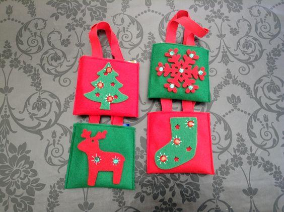 Kiddy felt Christmas bags