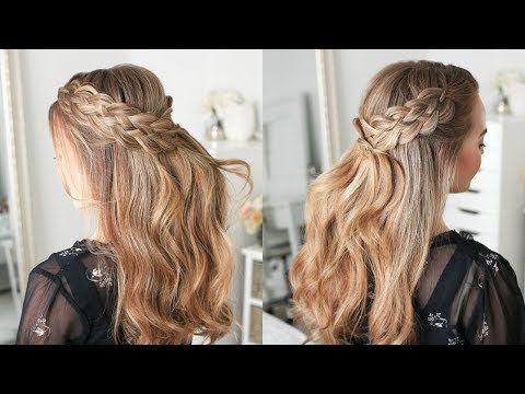 Half Up 5 Strand Braids Missy Sue Youtube Five Strand Braids Hair Styles Braided Hairstyles