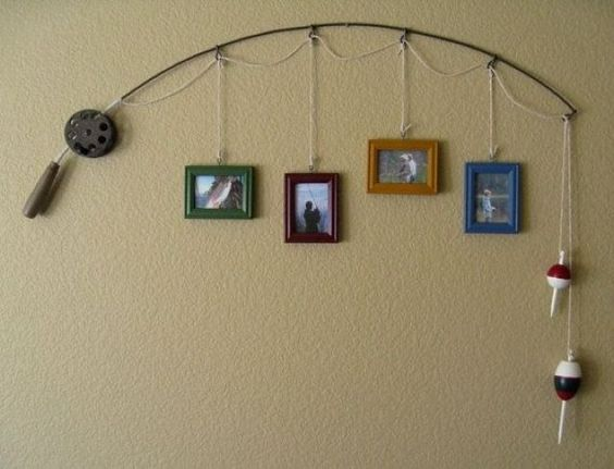 Repinning for @Ryan Hargrave because I know she loves decorating and her husband loves fishing :)