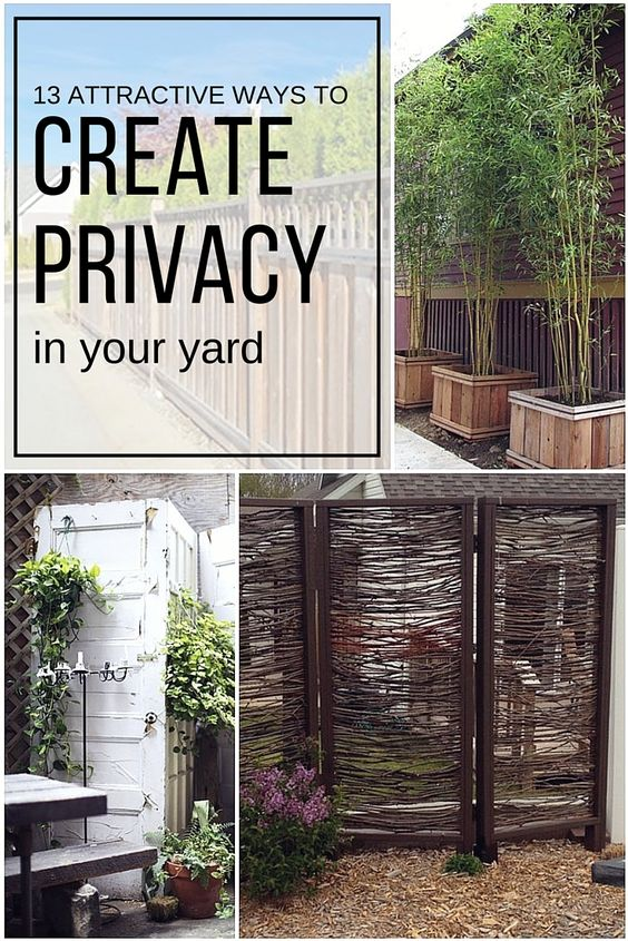 Yards the age and cities on pinterest - Creating privacy in backyard ...