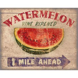 1 mile ahead down the road or over yonder in the south for What parts of a watermelon can you eat