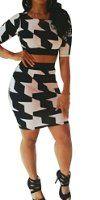 Womens Summer Bodycon Bandage Skirt Set 2 Pieces Sleeveless Celebrity Dress at Amazon Women's Clothing store: