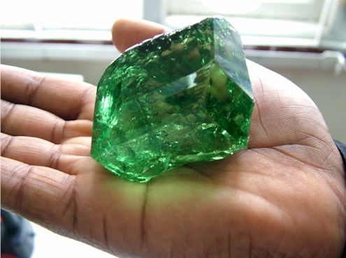 Weighing in at 325.14 carats and priced well over two million dollars, this extraordinary tsavorite is one of the largest most valuable gems ever to be discovered in East Africa.