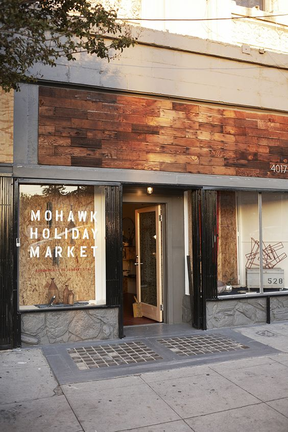 Mohawk general store holiday market selectism store for Retail exterior design