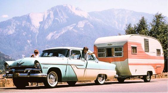 american holidays: Retro Photo, Pink Vintage, Vintage Cars, Old Cars, 1950 S Car