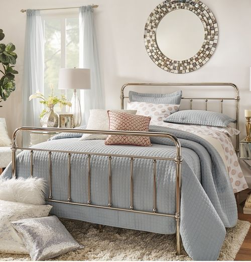 Crushing On Chrome Bed Design Metal Beds Gold Bed Frame