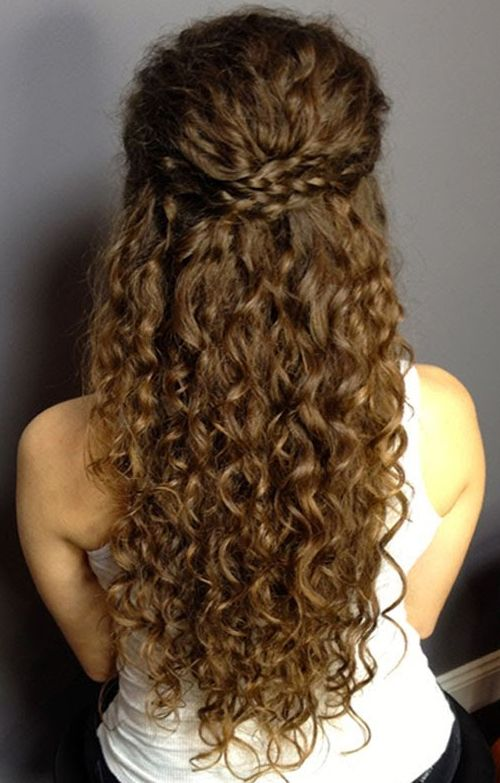 Sensational Long Curly Hairstyles 2019 You Might Wish To Have This Year Natural Curls Hairstyles Curly Hair Styles Naturally Curly Bridal Hair