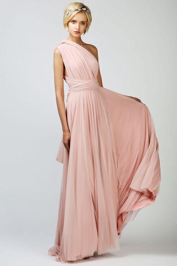 BABUSHKA BALLERINA BRIDESMAID | Two Birds Bridesmaid Tulle Ball Gown, Blush, $400AUD, Babushka Ballerina Ostrich Bolero, Bride…