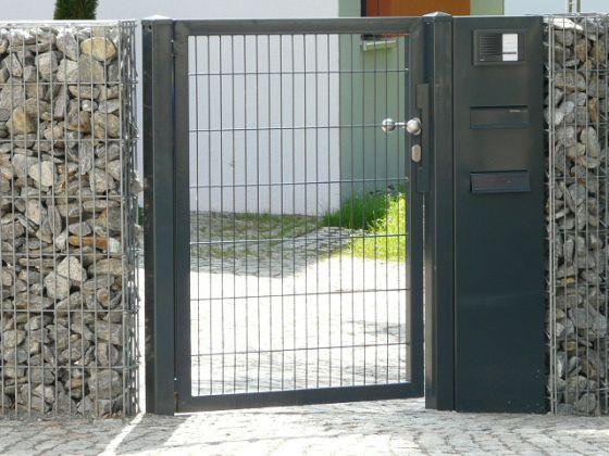 Briefkasten - Zaun+Tor GmbH Vorgarten Pinterest Zaun tore - gartenzaun modern metall