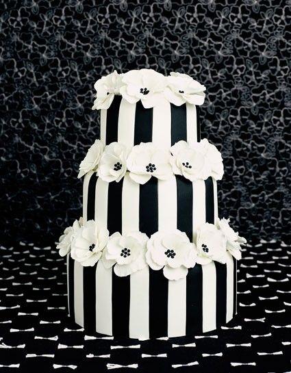 Black & White Stripes w/ Cosmos