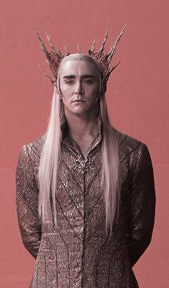 """I love how Thranduil is watching  Thorin approach and is all, """"yum!"""""""