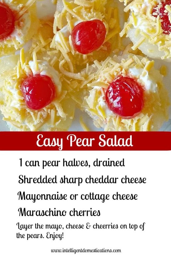 Southern Pear & Cherry Salad | Intelligent Domestications
