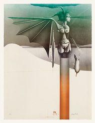 """Paul Wunderlich: Bild """"Sphinx vor Landschaft"""" (1979)"""