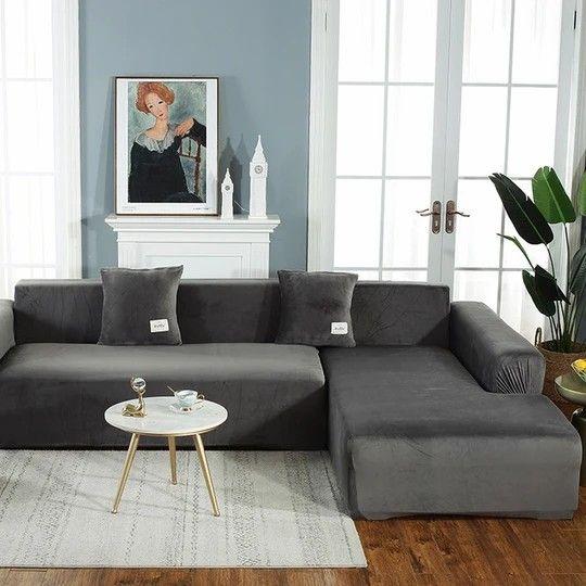 Thick Velvet Sofa Cover In 2020 Sofa Covers Single Seat Sofa Velvet Sofa