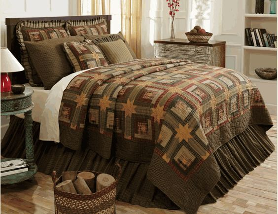 Tea Cabin Rustic Star Quilt by VHC Brands