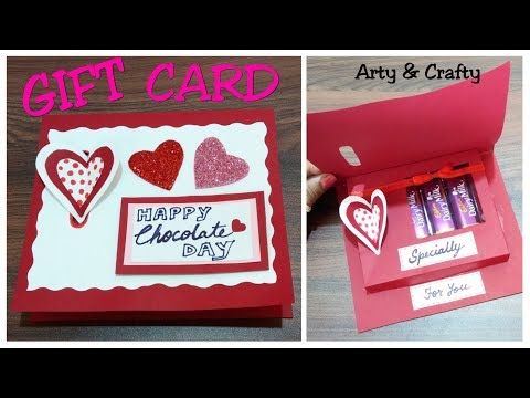 Diy Valentine Day Chocolate Card Gift Card Idea How To Make