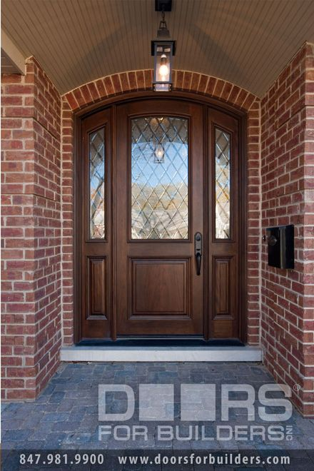 Single door with 2sl half diamond glass in door in for Single entry door with glass