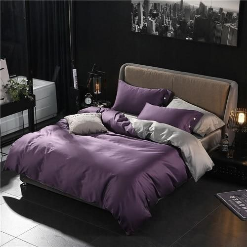 Egyptian Cotton Solid Bedding 8 Colors With Images Cozy