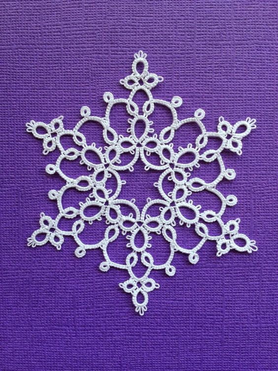 Snowflake - Tatting by the Bay: Free Patterns                                                                                                                                                     More