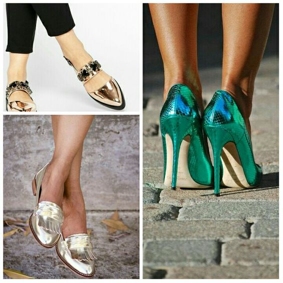Trends To Try: Metallic Shoes