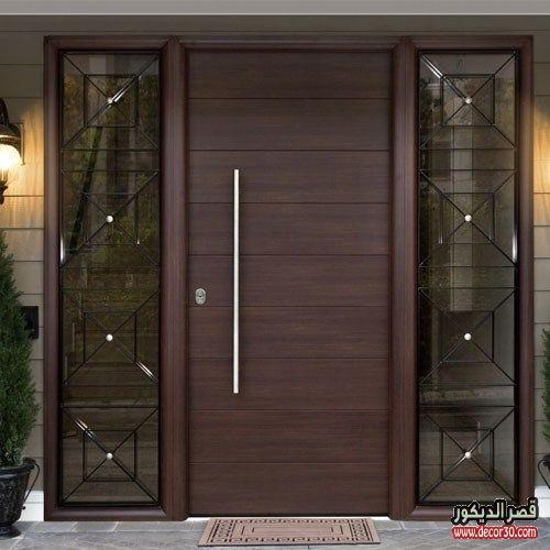 ابواب منازل اشكال ابواب خشب داخلية وخارجية للشقق قصر الديكور Home Door Design Door Design Modern Entrance Door Design