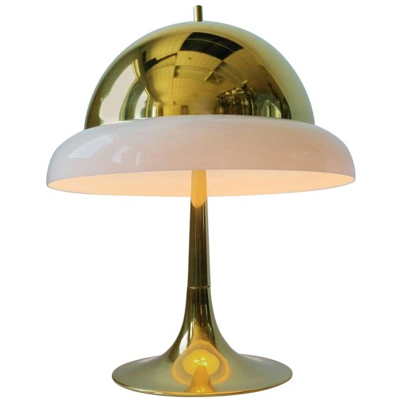Reggiani Brass and Perspex Table Lamp Mid-Century, 1960s, Italy | From a unique…