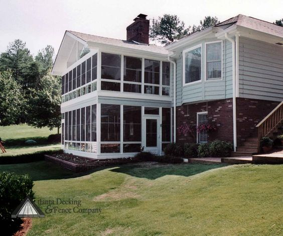 Two Story Decks And Porches Sunrooms Porches