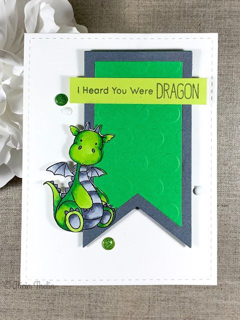 Thank You Punny Dragon Greeting Card You/'re Straight Fire