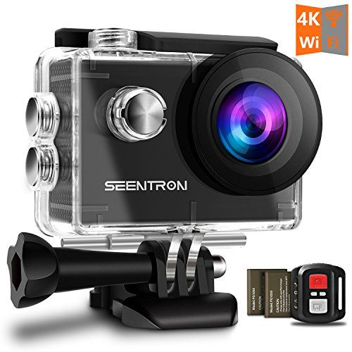Waterproof Underwater 4k Wifi Action Camera Ultra Hd Sports Cam With 16mp Sony Cmos Sensor 170 Degree Wide Angle Sharkeye Lens 2 4g Remote Control 2 Rechargea Action Camera Cmos Sensor Water Proof Case
