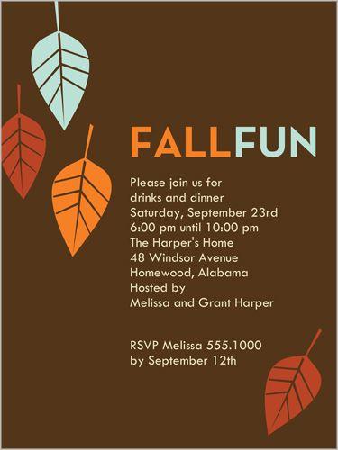 Fall Fun Fall Invitation