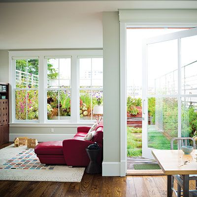 Love the extra wide French door