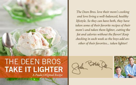 The Deen Bros. Lighter Peach Ice Cream on PaulaDeen.com