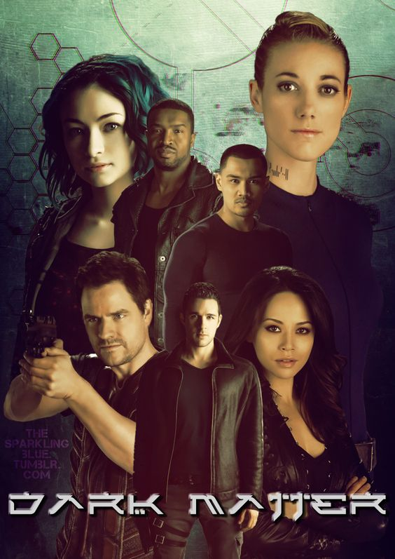 My first Dark Matter fanart is inspired by anime posters and their characters. :)