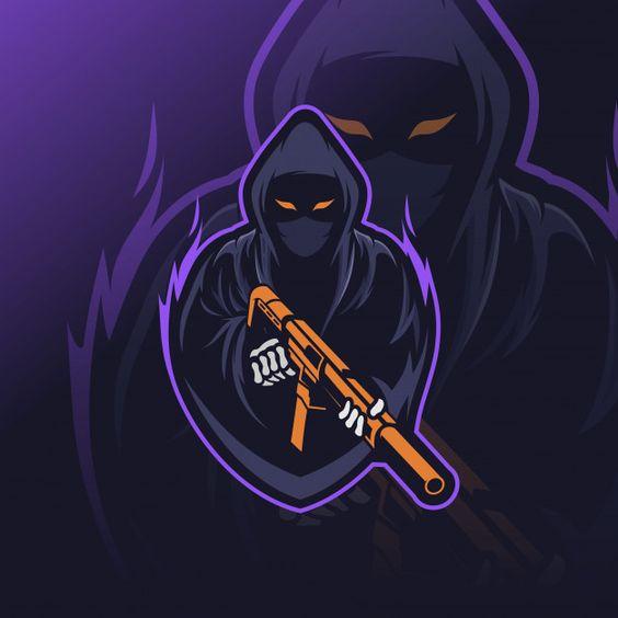 Жнец киберспорт логотип Premium векторы | Premium Vector #Freepik #vector #logo #halloween #sport #character