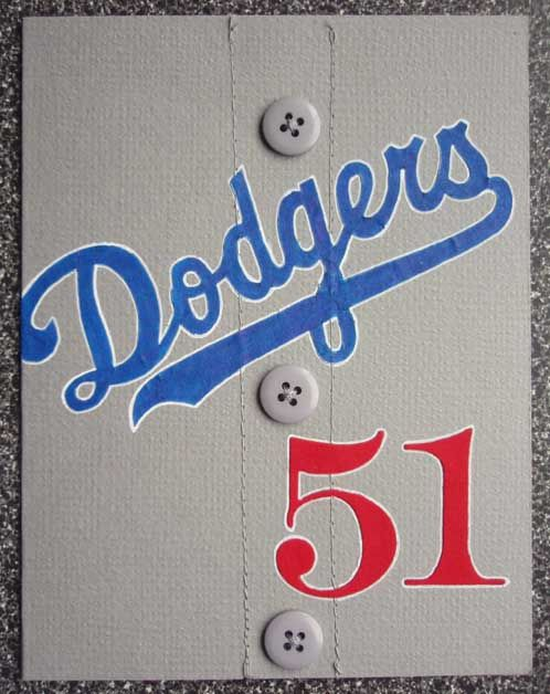 ...fussy cut. Dodgers' fan 51st birthday card.