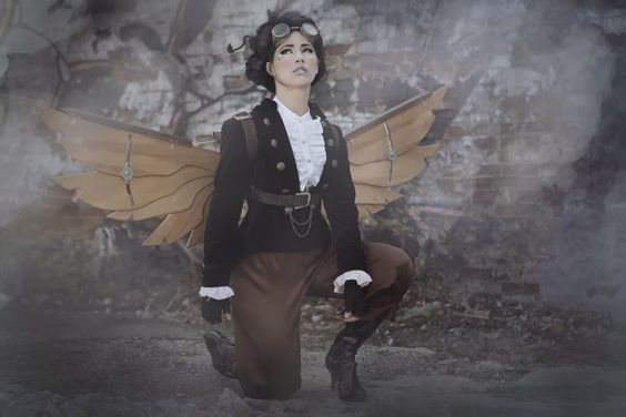 Steampunk with wooden wings